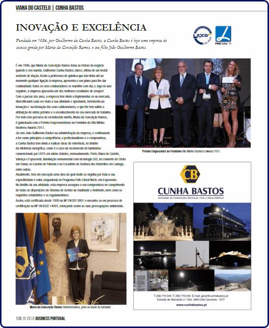 Inovação e Excelência – Revista Business Portugal (Agosto 2017)