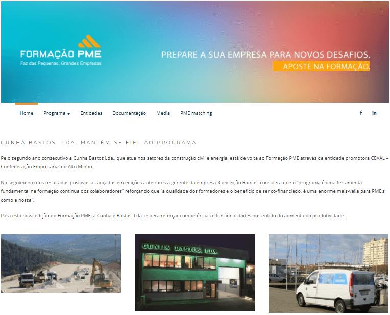 Programa Formação PME – Newsletter AEP