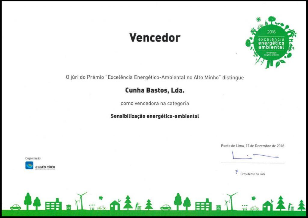 """Prémio """"Excelência Energético-Ambiental no Alto Minho"""""""